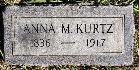 KURTZ, ANNA M - Hutchinson County, South Dakota | ANNA M KURTZ - South Dakota Gravestone Photos