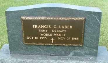LABER, FRANCIS G. - Hutchinson County, South Dakota | FRANCIS G. LABER - South Dakota Gravestone Photos