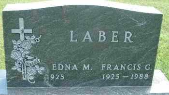 LABER, EDNA M. - Hutchinson County, South Dakota | EDNA M. LABER - South Dakota Gravestone Photos
