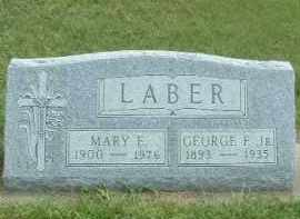 LABER, MARY E. - Hutchinson County, South Dakota | MARY E. LABER - South Dakota Gravestone Photos