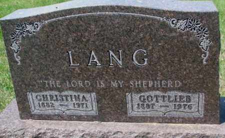 LANG, GOTTLIEB - Hutchinson County, South Dakota | GOTTLIEB LANG - South Dakota Gravestone Photos