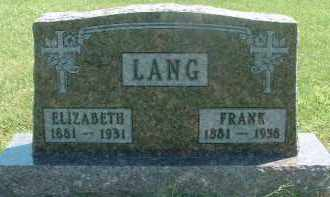 LANG, FRANK - Hutchinson County, South Dakota | FRANK LANG - South Dakota Gravestone Photos