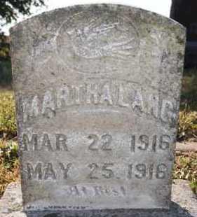 LANG, MARTHA - Hutchinson County, South Dakota | MARTHA LANG - South Dakota Gravestone Photos