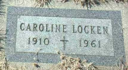 LOCKEN, CAROLINE - Hutchinson County, South Dakota | CAROLINE LOCKEN - South Dakota Gravestone Photos