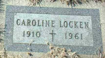 LOCKEN, CAROLINE - Hutchinson County, South Dakota | CAROLINE LOCKEN - South Dakota Gravestone Photos