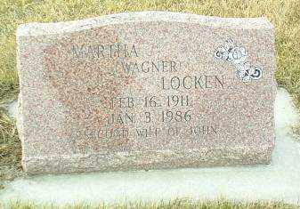 WAGNER LOCKEN, MARTHA - Hutchinson County, South Dakota | MARTHA WAGNER LOCKEN - South Dakota Gravestone Photos