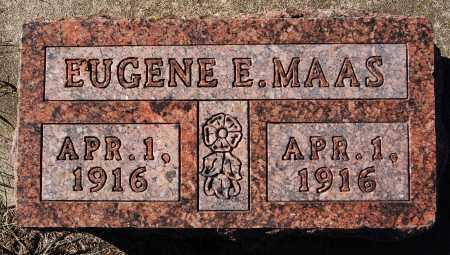 MAAS, EUGENE E - Hutchinson County, South Dakota | EUGENE E MAAS - South Dakota Gravestone Photos
