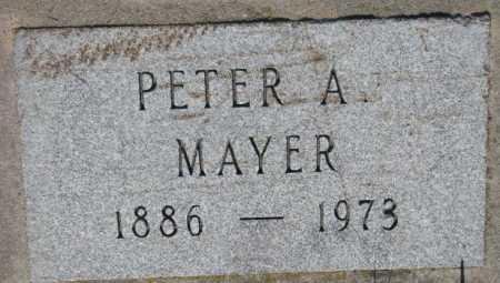 MAYER, PETER - Hutchinson County, South Dakota   PETER MAYER - South Dakota Gravestone Photos