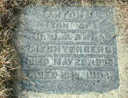 MECHTENBERG, ANTON - Hutchinson County, South Dakota   ANTON MECHTENBERG - South Dakota Gravestone Photos