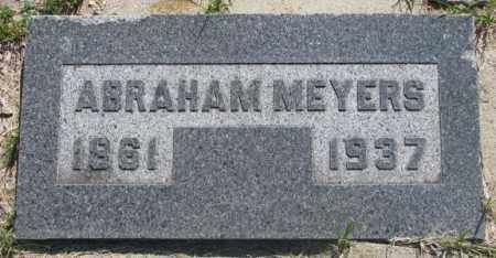 MEYERS, ABRAHAM - Hutchinson County, South Dakota | ABRAHAM MEYERS - South Dakota Gravestone Photos