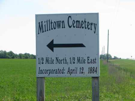 **MILLTOWN, SIGN & NOTES - Hutchinson County, South Dakota | SIGN & NOTES **MILLTOWN - South Dakota Gravestone Photos