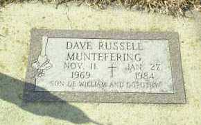 MUNTEFERING, DAVE - Hutchinson County, South Dakota | DAVE MUNTEFERING - South Dakota Gravestone Photos