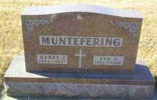 MUNTEFERING, EVA - Hutchinson County, South Dakota | EVA MUNTEFERING - South Dakota Gravestone Photos