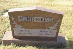 MUNTEFERING, BERTHA - Hutchinson County, South Dakota   BERTHA MUNTEFERING - South Dakota Gravestone Photos