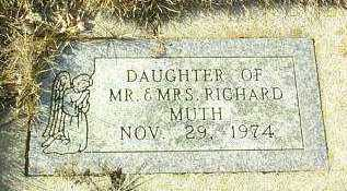 MUTH, INFANT - Hutchinson County, South Dakota   INFANT MUTH - South Dakota Gravestone Photos