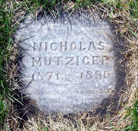 MUTZIGER, NICHOLAS - Hutchinson County, South Dakota | NICHOLAS MUTZIGER - South Dakota Gravestone Photos