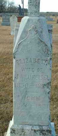 NEUHEISEL, ELIZABETH - Hutchinson County, South Dakota | ELIZABETH NEUHEISEL - South Dakota Gravestone Photos