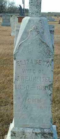 NEUHEISEL, ELIZABETH - Hutchinson County, South Dakota | ELIZABETH NEUHEISEL - South Dakota Gravestone Photos