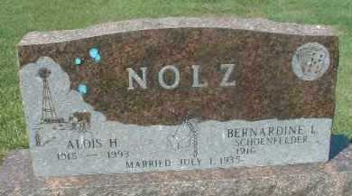 NOLZ, BERNADINE L. - Hutchinson County, South Dakota | BERNADINE L. NOLZ - South Dakota Gravestone Photos
