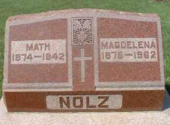 NOLZ, MAGDELENA - Hutchinson County, South Dakota | MAGDELENA NOLZ - South Dakota Gravestone Photos
