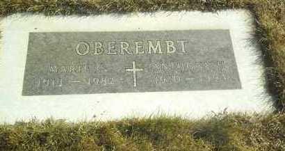 OBEREMBT, MARIE - Hutchinson County, South Dakota | MARIE OBEREMBT - South Dakota Gravestone Photos