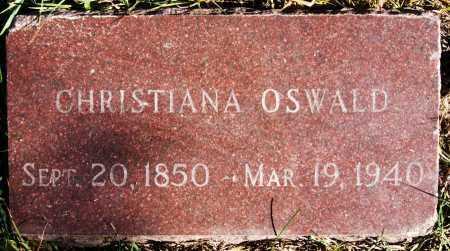 OSWALD, CHRISTINA - Hutchinson County, South Dakota   CHRISTINA OSWALD - South Dakota Gravestone Photos