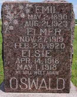 OSWALD, ELMER - Hutchinson County, South Dakota | ELMER OSWALD - South Dakota Gravestone Photos