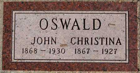 OSWALD, CHRISTINA - Hutchinson County, South Dakota | CHRISTINA OSWALD - South Dakota Gravestone Photos