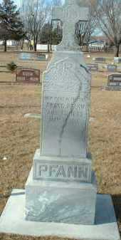PFANN, FRANK - Hutchinson County, South Dakota | FRANK PFANN - South Dakota Gravestone Photos