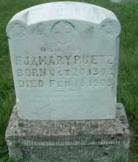 PUETZ, DAUGHTER - Hutchinson County, South Dakota   DAUGHTER PUETZ - South Dakota Gravestone Photos