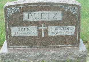PUETZ, JOHN - Hutchinson County, South Dakota | JOHN PUETZ - South Dakota Gravestone Photos