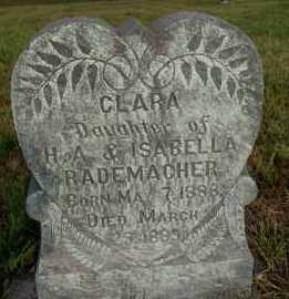 RADEMACHER, CLARA - Hutchinson County, South Dakota | CLARA RADEMACHER - South Dakota Gravestone Photos