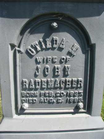 RADEMACHER, OTILDA M (CLOSEUP) - Hutchinson County, South Dakota | OTILDA M (CLOSEUP) RADEMACHER - South Dakota Gravestone Photos