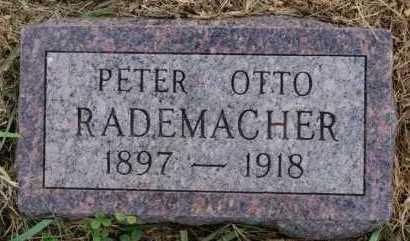 RADEMACHER, PETER OTTO - Hutchinson County, South Dakota   PETER OTTO RADEMACHER - South Dakota Gravestone Photos