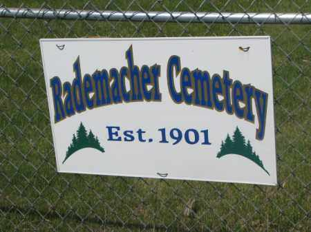 **RADEMACHER, SIGN & NOTES - Hutchinson County, South Dakota | SIGN & NOTES **RADEMACHER - South Dakota Gravestone Photos