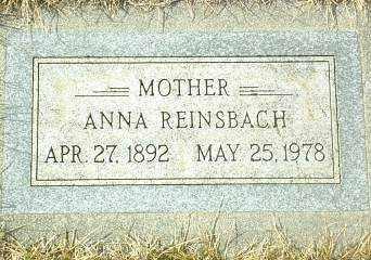 REINSBACH, ANNA - Hutchinson County, South Dakota | ANNA REINSBACH - South Dakota Gravestone Photos