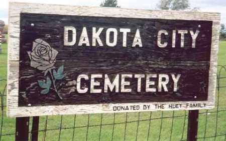 *DAKOTA CITY, CEMETERY SIGN - Hutchinson County, South Dakota   CEMETERY SIGN *DAKOTA CITY - South Dakota Gravestone Photos
