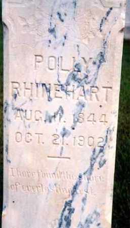 RHINEHART, POLLY - Hutchinson County, South Dakota   POLLY RHINEHART - South Dakota Gravestone Photos