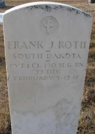 ROTH, FRANK J. - Hutchinson County, South Dakota | FRANK J. ROTH - South Dakota Gravestone Photos