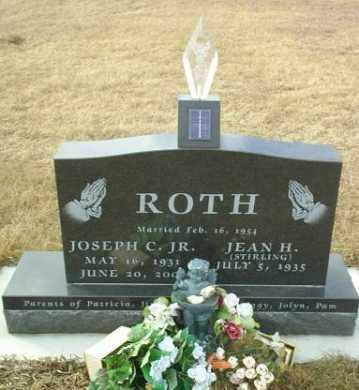 STERLING ROTH, JEAN - Hutchinson County, South Dakota | JEAN STERLING ROTH - South Dakota Gravestone Photos
