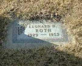 ROTH, LEONARD - Hutchinson County, South Dakota | LEONARD ROTH - South Dakota Gravestone Photos