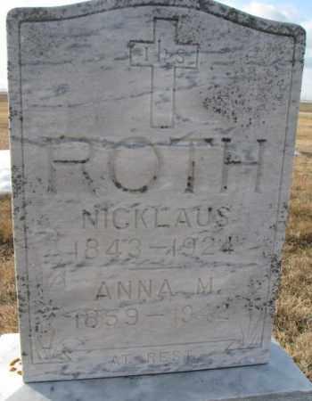 ROTH, NICKLAUS - Hutchinson County, South Dakota | NICKLAUS ROTH - South Dakota Gravestone Photos