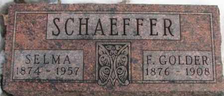 SCHAEFFER, SELMA - Hutchinson County, South Dakota | SELMA SCHAEFFER - South Dakota Gravestone Photos