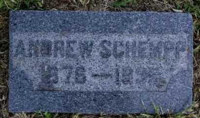 SCHEMPP, ANDREW - Hutchinson County, South Dakota | ANDREW SCHEMPP - South Dakota Gravestone Photos