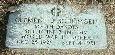 SCHLIMGEN, CLEMENT - Hutchinson County, South Dakota   CLEMENT SCHLIMGEN - South Dakota Gravestone Photos