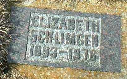 SCHLIMGEN, ELIZABETH - Hutchinson County, South Dakota | ELIZABETH SCHLIMGEN - South Dakota Gravestone Photos