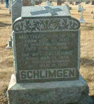 SCHLIMGEN, MATHIAS - Hutchinson County, South Dakota | MATHIAS SCHLIMGEN - South Dakota Gravestone Photos