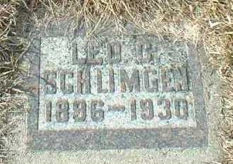 SCHLIMGEN, LEO - Hutchinson County, South Dakota | LEO SCHLIMGEN - South Dakota Gravestone Photos
