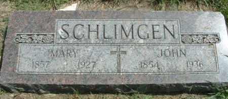 SCHLIMGEN, MARY - Hutchinson County, South Dakota | MARY SCHLIMGEN - South Dakota Gravestone Photos