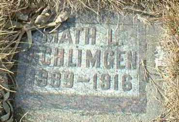 SCHLIMGEN, MATH - Hutchinson County, South Dakota | MATH SCHLIMGEN - South Dakota Gravestone Photos